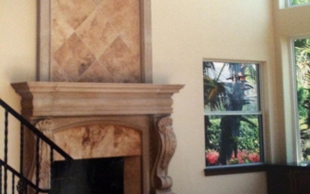 Custom Built Luxury Fireplace